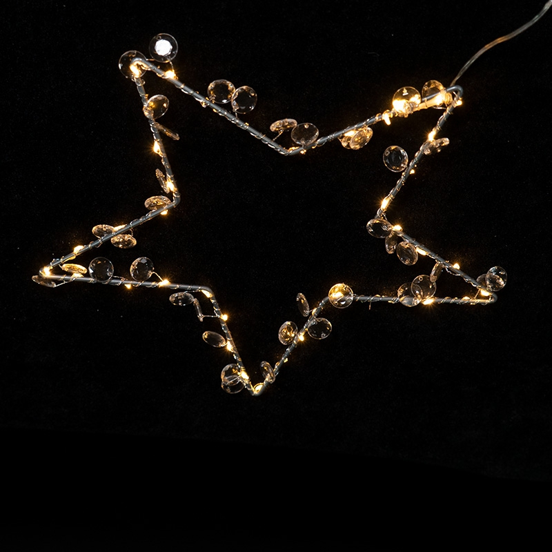 30CM star, with bead decoration lights