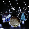160LED Decorative Waterproof Battery Operated Outdoor Garden Christmas Black Wire Cold White String Light