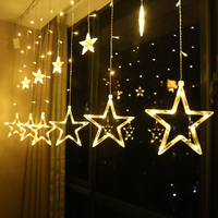 Twinkle 138 LED Window Curtain String Light for Wedding Party Home