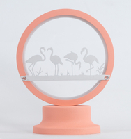 Table light with flamingo pattern