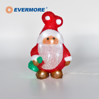 EVERMORE Christmas LED Santa Claus Acrylic Light for Decoration