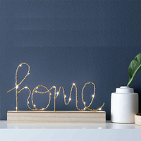 HOME fairy light Sign