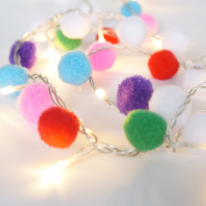 EVERMORE Super Bright Party Decoration Colorful LED Ball String Light Chain