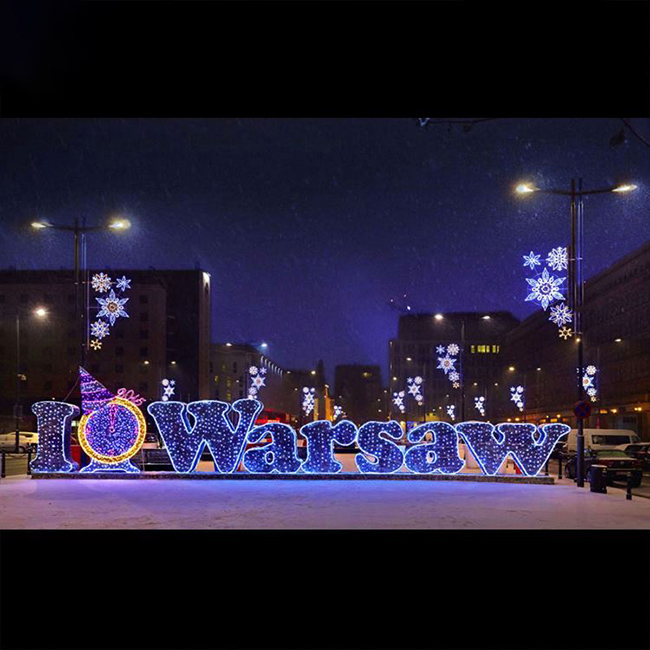 Letter LED 2D Motif Light Multicolor Wire Frame for Outdoor Decoration