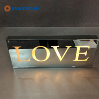LED light with letter decoration