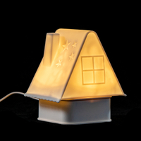 EVERMORE Soft Silicone Mini House Shape Table Lamp