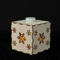Wood box with snowflake pattern