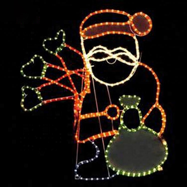 Outdoor Customized Merry Christmas Stan Claus Decoration Motif Street Light