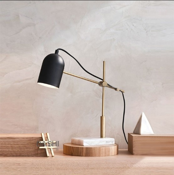 Modern Design Study Use Elegant Design 21.3in Height Eye Care Metal Desk Led Table Lamp With Marble Base